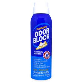 DERMAPEX ODOR BLOCK DESODORANTE PARA PÉS ORIGINAL SPRAY COM 150ML